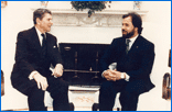 Bo Dietl meeting with President Ronald Reagan
