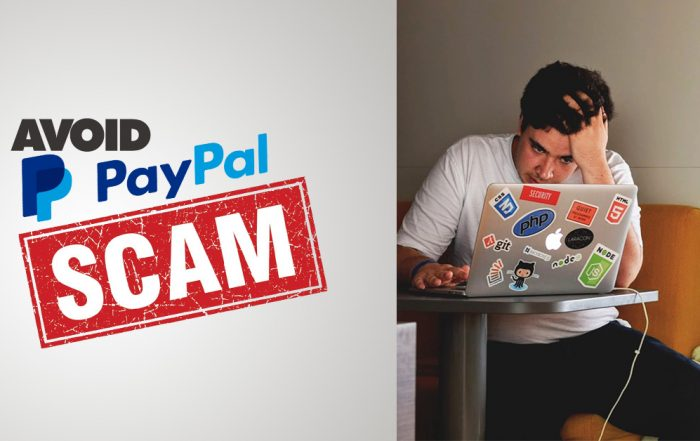 Man on Laptop - Avoid PayPal Scams