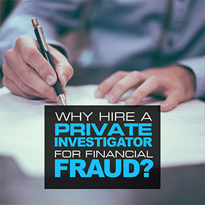 Why Hire A Private Investigator When Dealing With Financial Fraud?