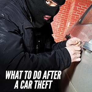 Important Steps To Take After A Car Theft
